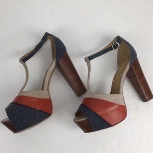 See by CHLOE T-Strap Platform Heels Sandals Sz 10
